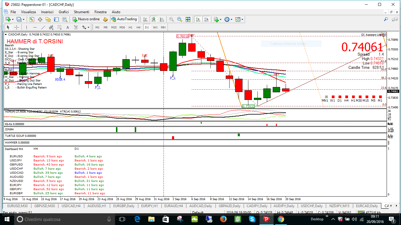 cadchf daily shoting star